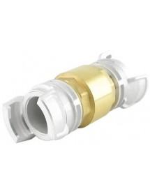 Clapet anti-retour laiton avec raccords pompier aluminium à verrou DN25 à DN100