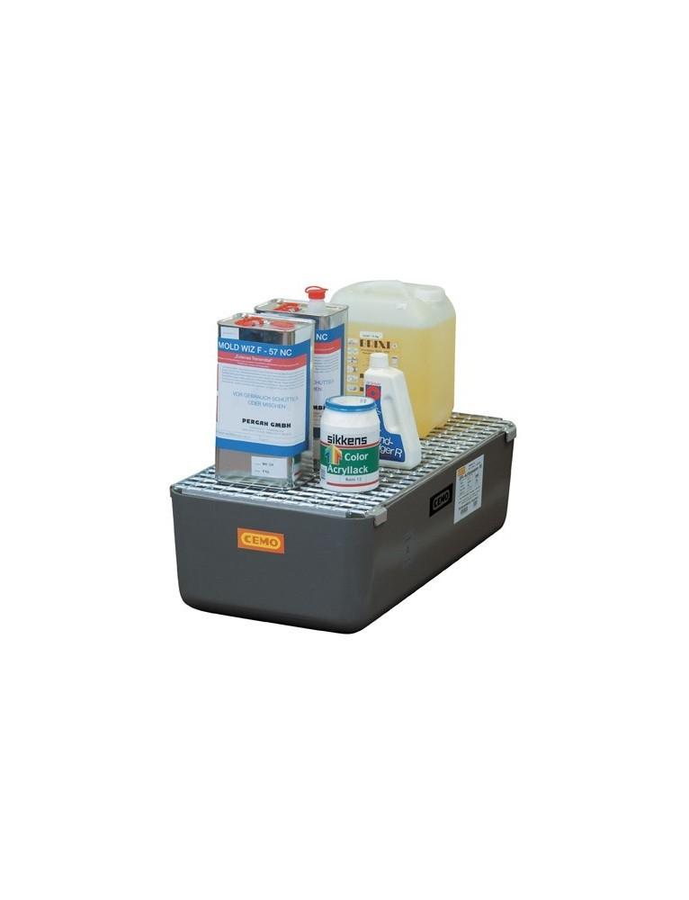 Bacs de rétention PFV 65 litres avec caillebotis|AgrivitiDistribution